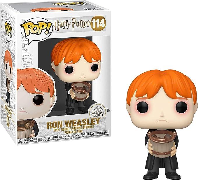 Funko - Pop! Harry Potter: Harry Potter - Ron Puking Slugs w/Bucket Figura Coleccionable, Multicolor (48066)