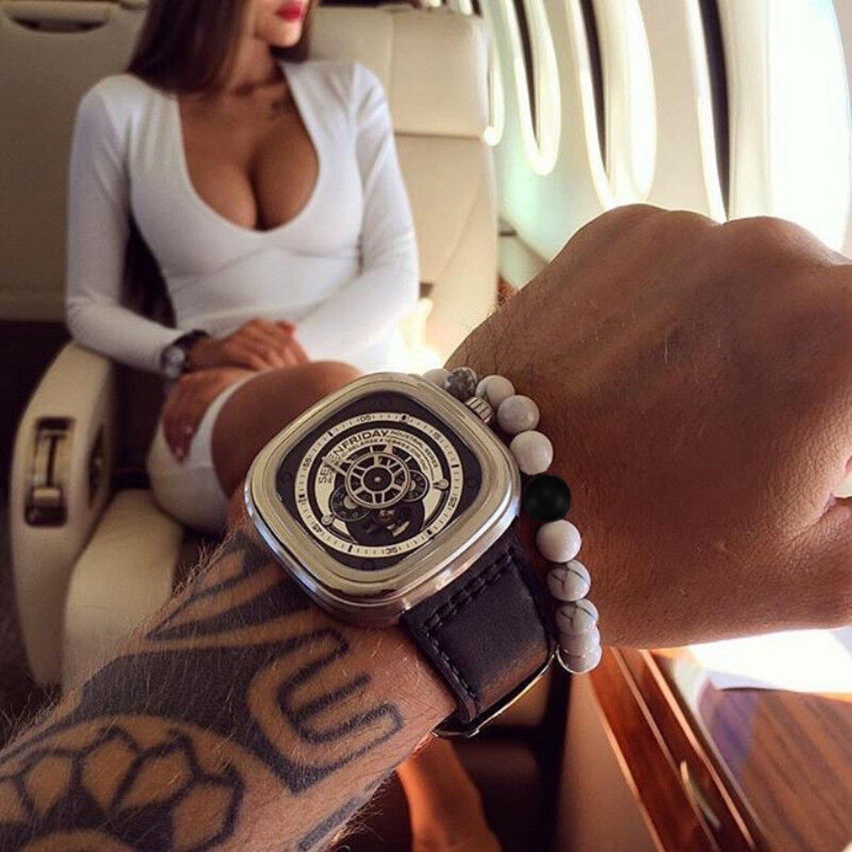 Men's Bracelet J.Fee Couples His and Hers Bracelets Stretch Beaded Bracelet for Boyfriend Girlfriend Healing Gemstone Distance Bracelet for Wife Husband Birthday Anniversary Valentine's Gift by J.Fée (Image #5)