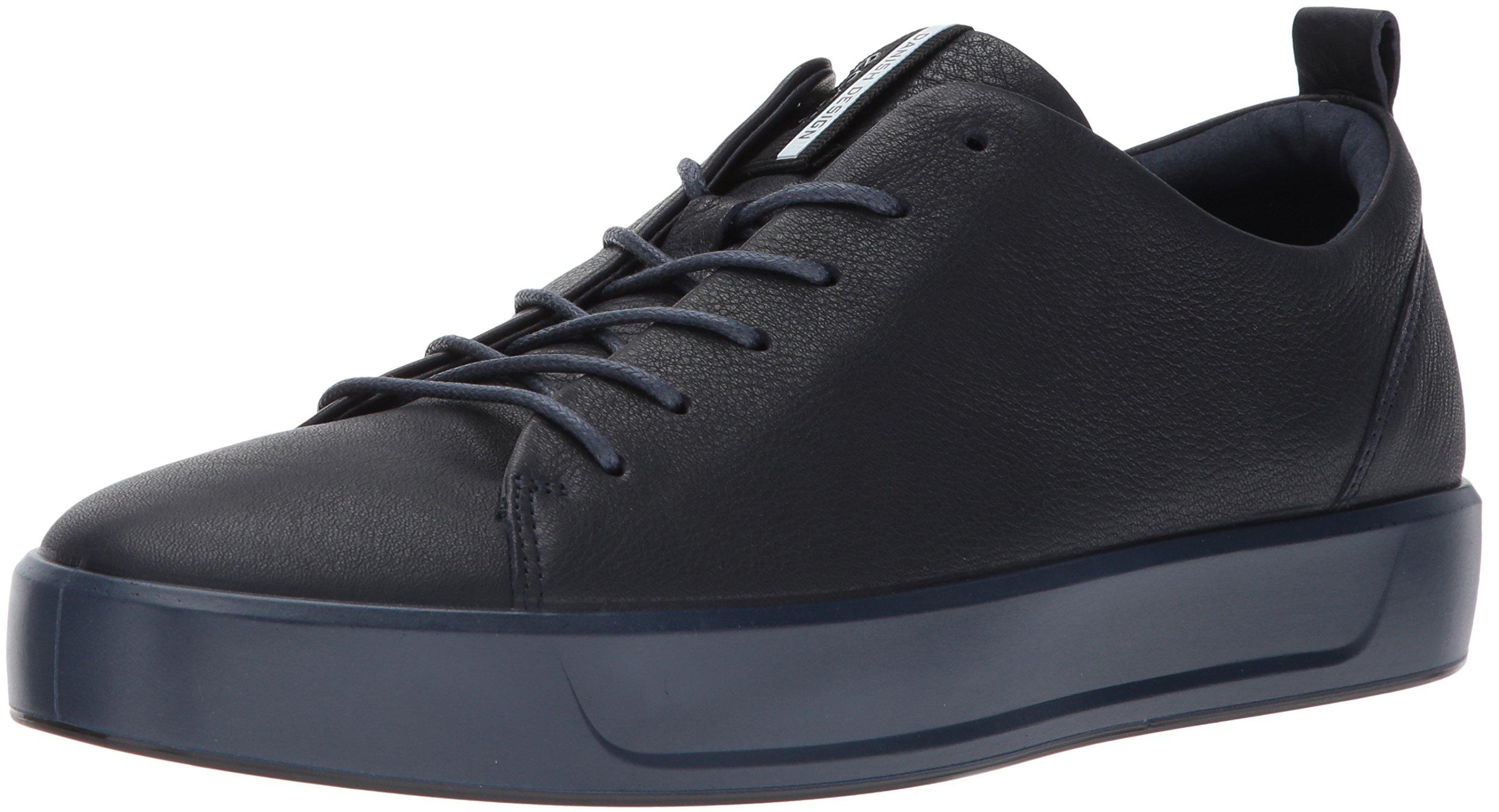 ECCO Men's Soft 8 Tie Fashion Sneaker, Night Sky/Black, 39 M EU/5-5.5 D(M) US