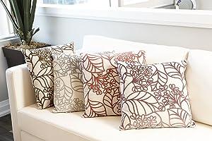 FlatoHome Spring Bloom Decorative Throw Pillow - Small Mauve
