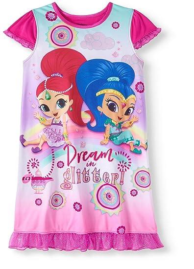 484f2bfdc4 Amazon.com: Nickelodeon Shimmer and Shine Girls Nightgown Pajamas (M ...