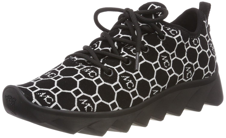 Marc Cain KB SH.55 M06, Zapatillas para Mujer 41 EU Multicolor (Black And White 910)