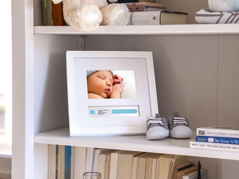 Pearhead Baby Hosipital ID Bracelet and Photo Keepsake Frame White