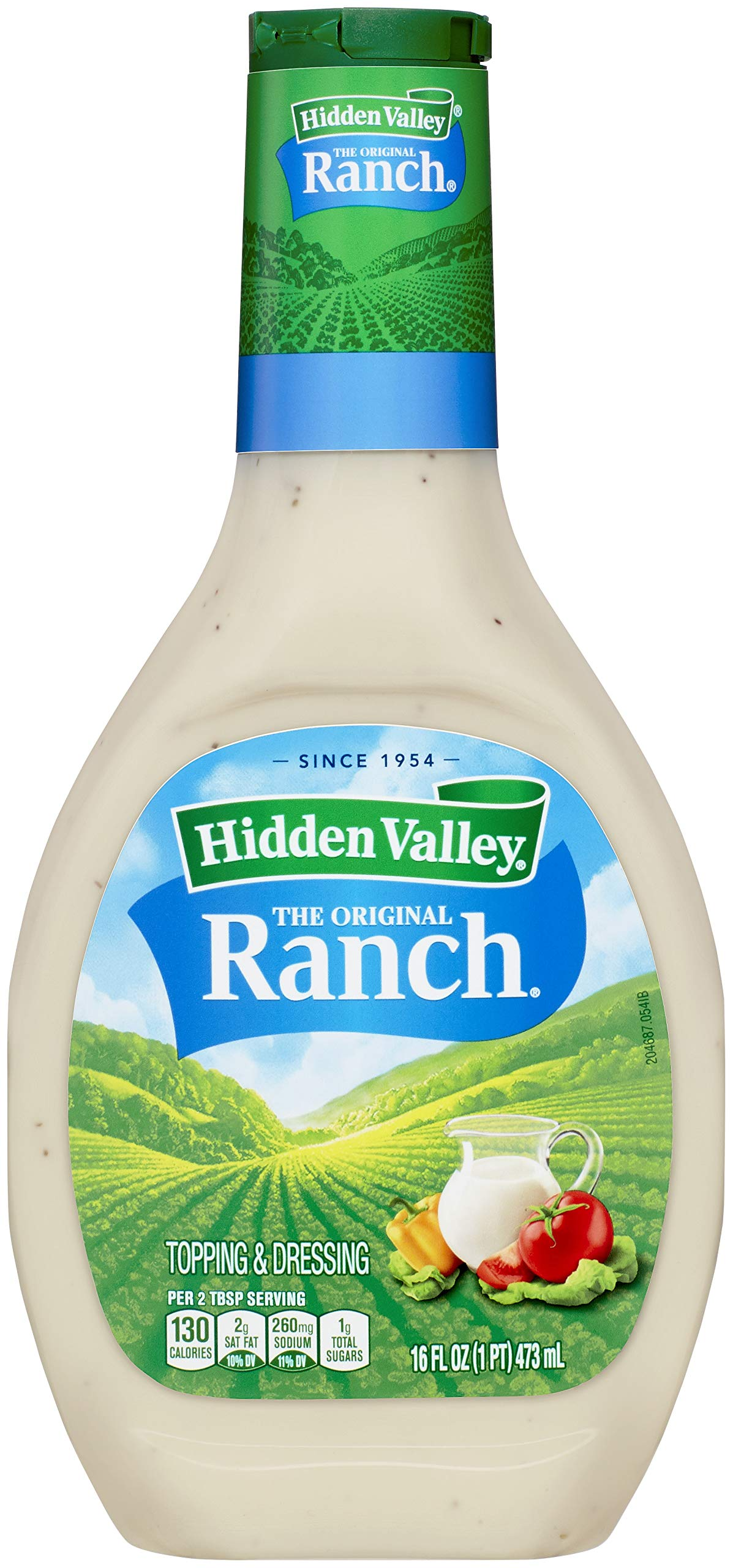Hidden Valley Original Ranch Salad Dressing & Topping, Gluten Free - 16 Ounce Bottle (Package May Vary)