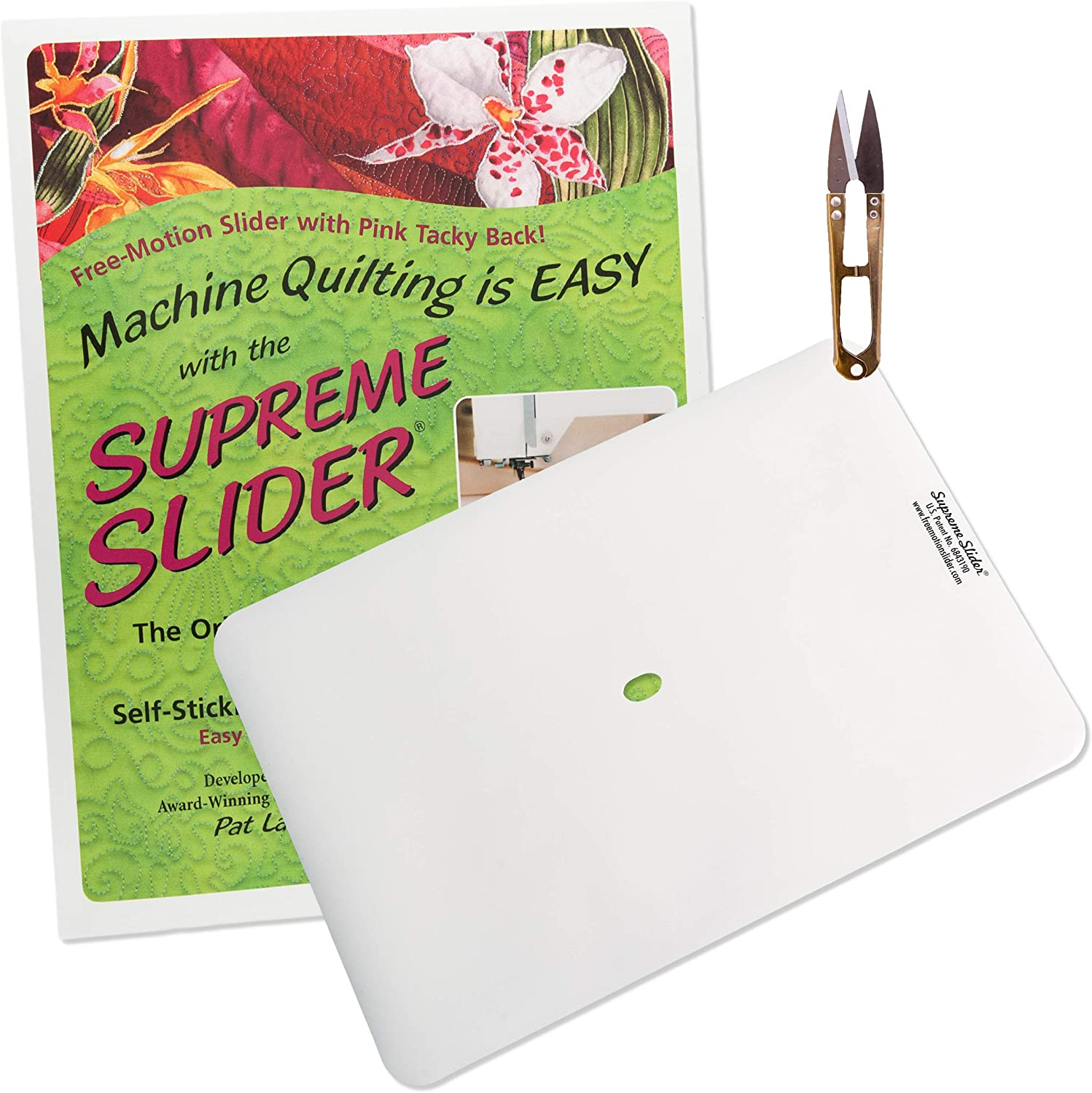 Supreme Slider Free Motion Quilting Supplies - Quilting Snippers | Thread Scissors | Quilting Accessories | Quilting Notions | Quilting Slider Mat | Free Motion Quilting Tools