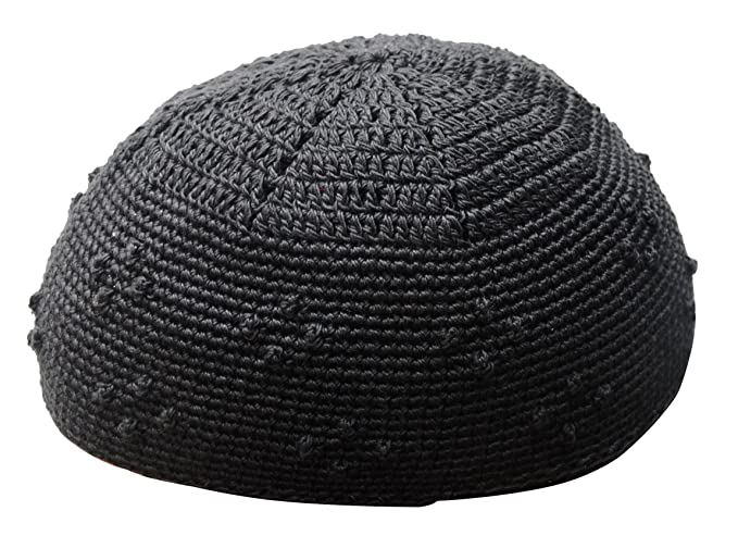 Image Unavailable. Image not available for. Color  TheKufi Large Black  Crochet Knot Design Moslem Islamic Kufi Hat Taqiyah Skull Cap Kofiah 13ed95b1a6a2