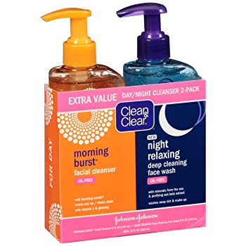 Clean & Clear 2-Pack Day and Night Face Cleanser