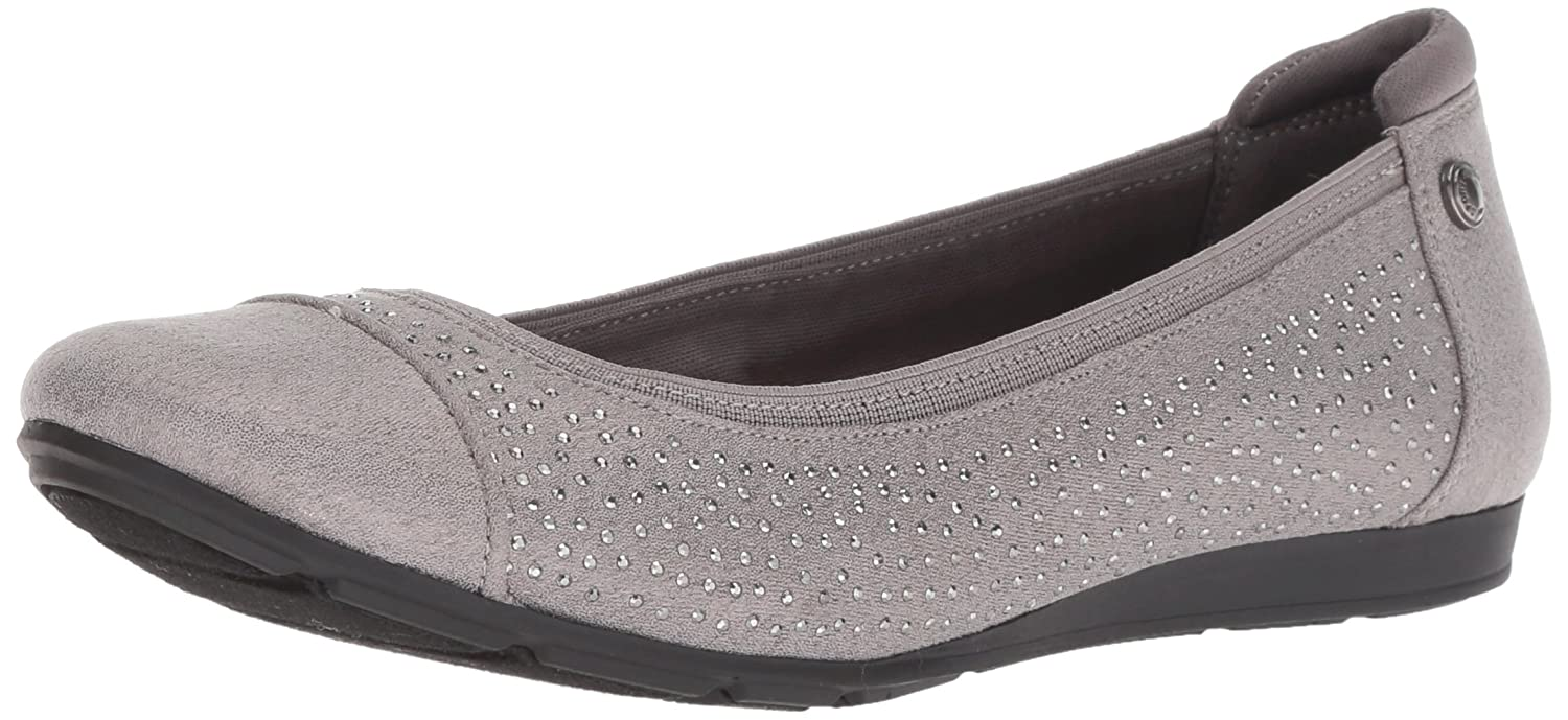 Anne Klein Women's Alessandra Studded Ballet Flat B079DJWQP4 7.5 W US|Pewter Multi Fabric