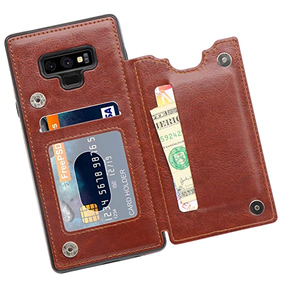 differently 37c23 a96e4 MMHUO Galaxy Note 9 Wallet Case, PU Leather Galaxy Note 9 Case with Credit  Card Holders Double Magnetic Buttons Flip Shockproof Protective Cover ...