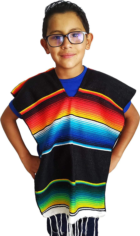 Amazon.com: Yani's Gifts Child Mexican Poncho Kids, Serape Poncho Costume for Children: Clothing
