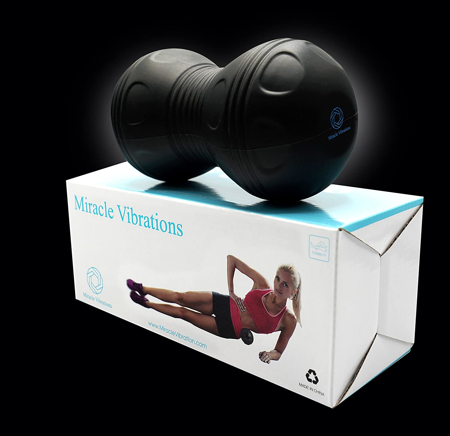 Vibrating Back Roller Massage Ball with Double Trigger Point Balls and Powerful Lithium-Ion Batteries for Deep Tissue Release by Miracle Vibration