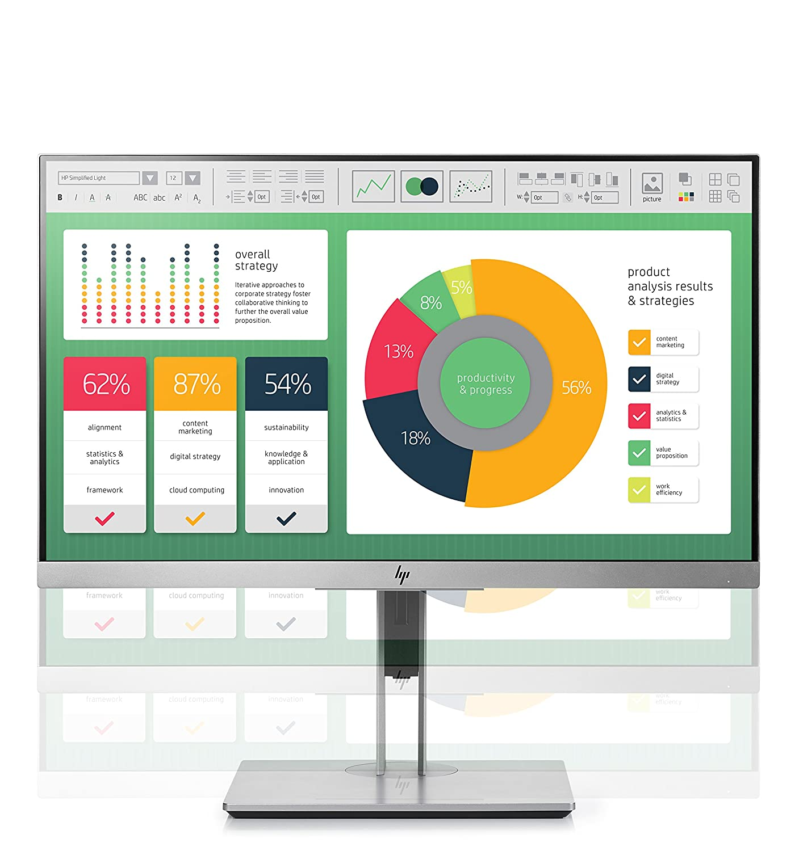 "16:9-5 ms 1fh45a8#aba 1fh45a8-aba HP Business E223 21.5/"" LED LCD Monitor"