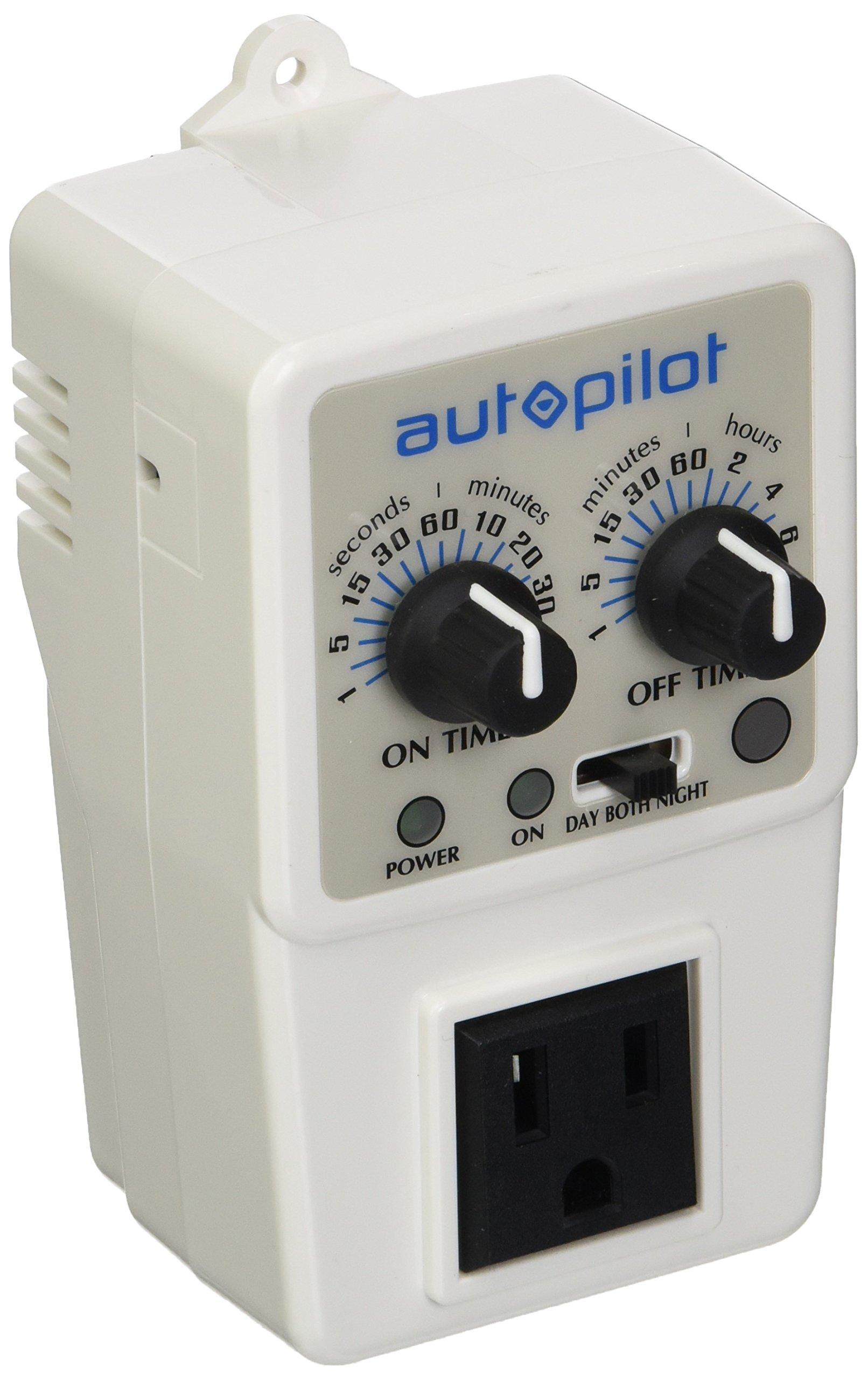 Hydrofarm Autopilot Adjustable Recycling Timer APCTART Day/Night or 24hr Operation