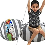 Amazon Price History for:Stuffed Animal Storage Bean Bag Chair | Perfect Storage Solution For Extra Blankets / Pillows / Covers / Towels / Clothes | by Wonderfix (Grey)