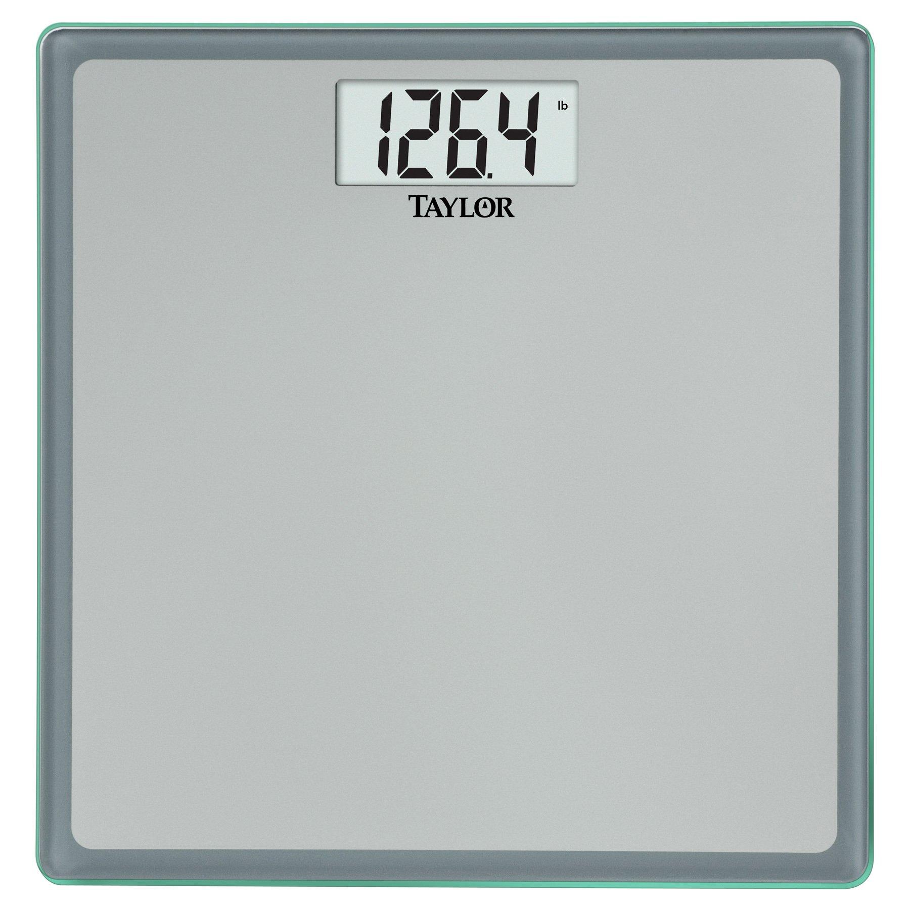 Taylor Precision Products Glass Digital Bath Scale (Grey/Blue) by Taylor Precision Products