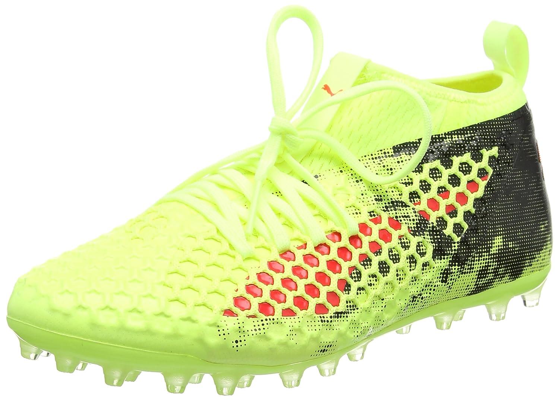 Puma Future 18.2 Netfit MG, Zapatillas de Fútbol para Hombre 40 EU Amarillo (Fizzy Yellow-red Blast-puma Black)