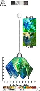 product image for Jezebel Signature JRNI-FP12-FER-TRNI Nickel Flame Track Light, Small, Fern
