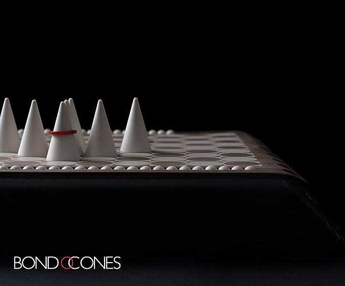 Mühle und Backgammon aus Holz Brettspiel BondOCones Strategiespiel wie Schach