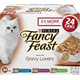 Fancy Feast Wet Cat Food, Gravy Lovers Variety Pack 85 g Cans (24 pack)