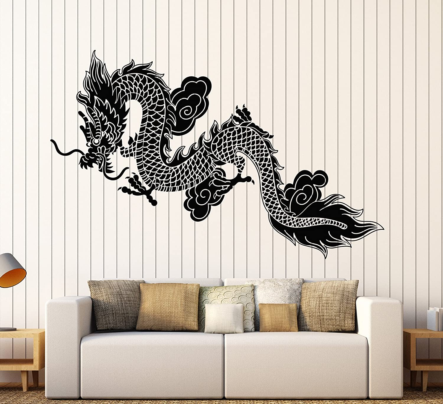 vs4257 Vinyl Wall Decal Chinese Dragon Asian Decor Oriental Style Stickers