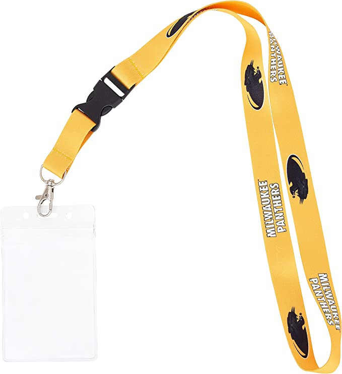 w//Pouch Hartwick College Hawks NCAA Car Keys College ID Badge Holder Lanyard Keychain Detachable Breakaway Snap Buckle