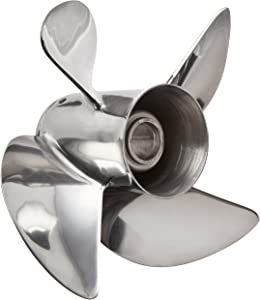 "Turning Point Propeller 31431930 Stainless Steel Express 4 Blade Propeller with 4-1/4"" Gear Case (40-150 hp EX1/EX2-1319-4)"