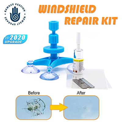【NEW RERSION】Windshield Repair Kit,Newest Generation Car Windshield Repair Tools with Windshield Repair Resin for Auto Glass Windshield Crack Chip Scratch, Chips, Cracks, Bulll's-Eyes and Stars: Automotive