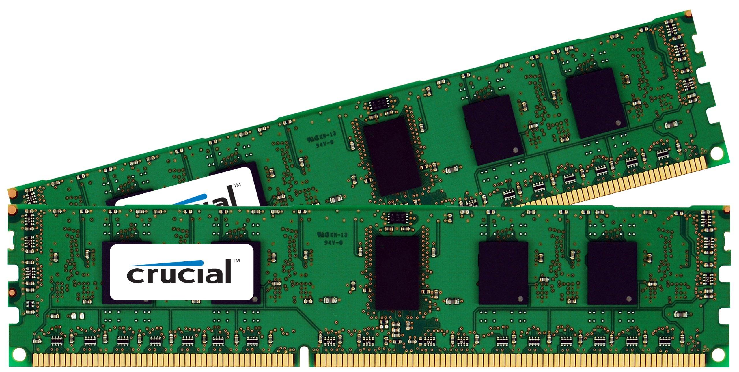 Crucial 16GB Kit (8GBx2) DDR3 1333 MT/s (PC3-10600) CL9 240-Pin Unbuffered UDIMM Desktop Memory CT2CP102464BA1339