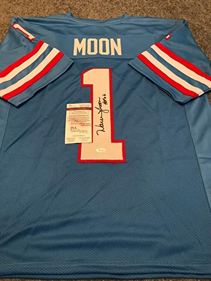 Image Unavailable. Image not available for. Color  Warren Moon Autographed  Signed Inscribed Houston Oilers Jersey ... fc1f50a67