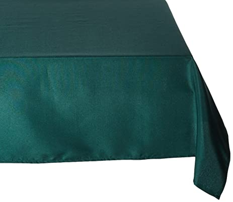 LinenTablecloth 70 X 120 Inch Rectangular Polyester Tablecloth Hunter Green