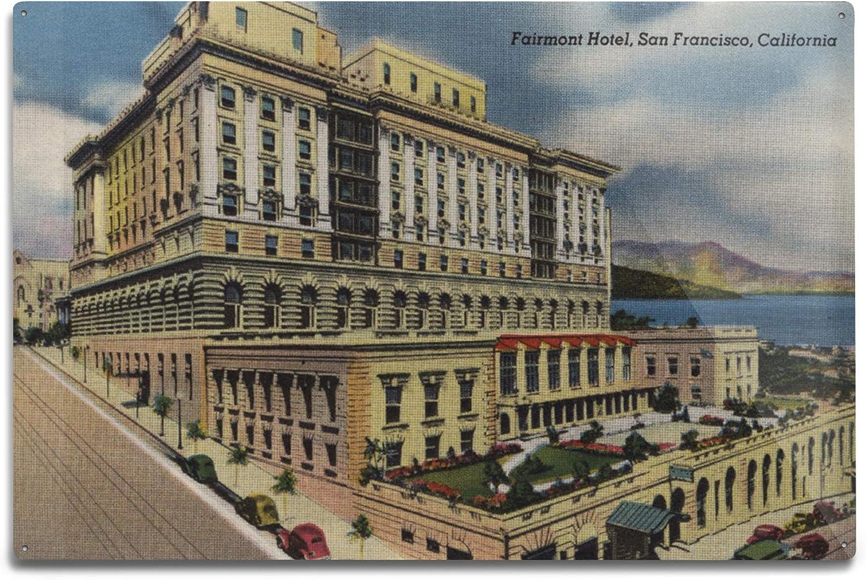 Amazon.com: Lantern Press Fairmont Hotel - San Francisco, California 6071  (6x9 Aluminum Wall Sign, Wall Decor Ready to Hang): Posters & Prints