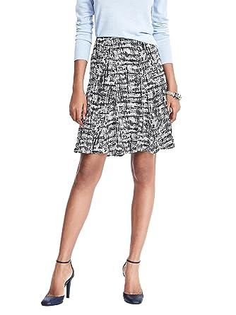 b861a2388c Banana Republic Trapeze Skirt Color Marled Black/White at Amazon ...