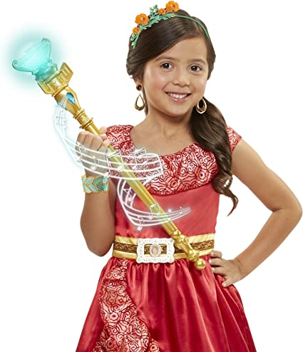 Girls Disney Elena Of Avalor Light Up Scepter Wand Costume Accessory