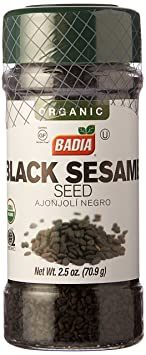 Amazon.com : Badia Black Sesame Seed Organic 2.5 oz : Grocery & Gourmet Food