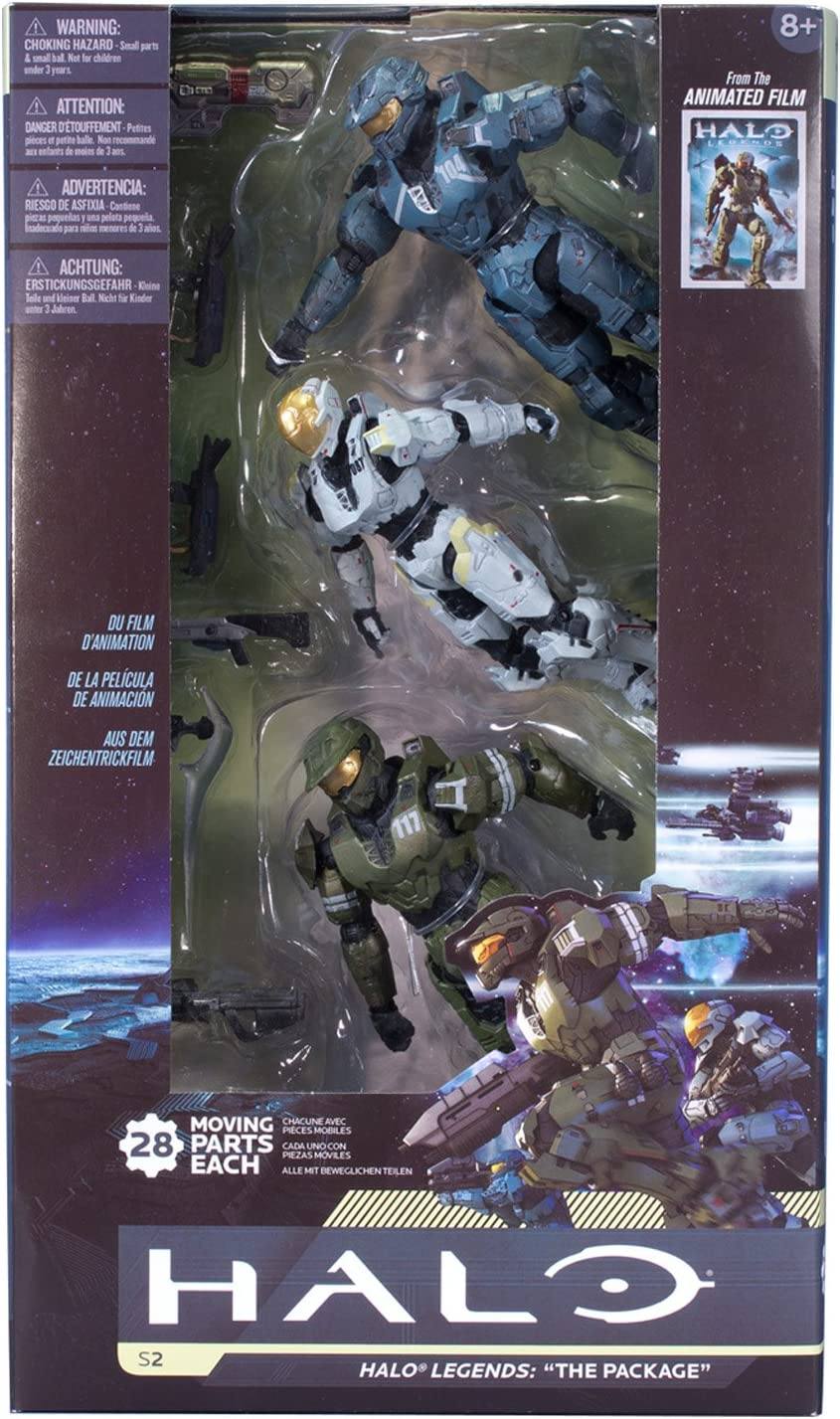 Amazon Com Mcfarlane Toys Halo Legends The Package 3 Pack