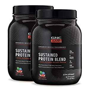 GNC AMP Sustained Protein Blen