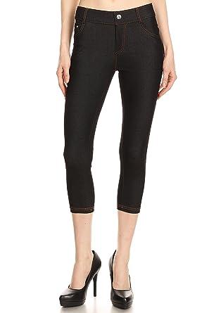 b1191db4f32f2 Black Jeggings for Women Jeggings Black Jean Leggings High Waist Jeggings  Crop Black Small