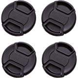 IMZ Lens Cap Bundle - 4 x 77MM Front Lens Filter Snap On Pinch Cap Protector Cover For DSLR SLR Camera Lens