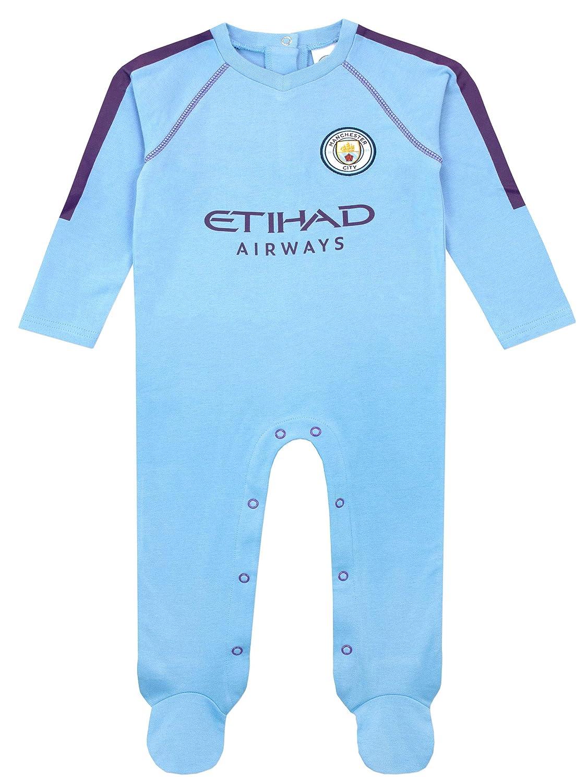 Premier League Baby Boys Manchester City FC Sleepsuit