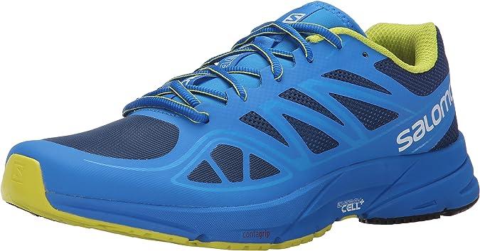 Salomon L37937800, Zapatillas de Trail Running para Hombre, Azul (Midnight Blue/Bright Blue/Gecko Gre), 49 1/3 EU: Amazon.es: Zapatos y complementos