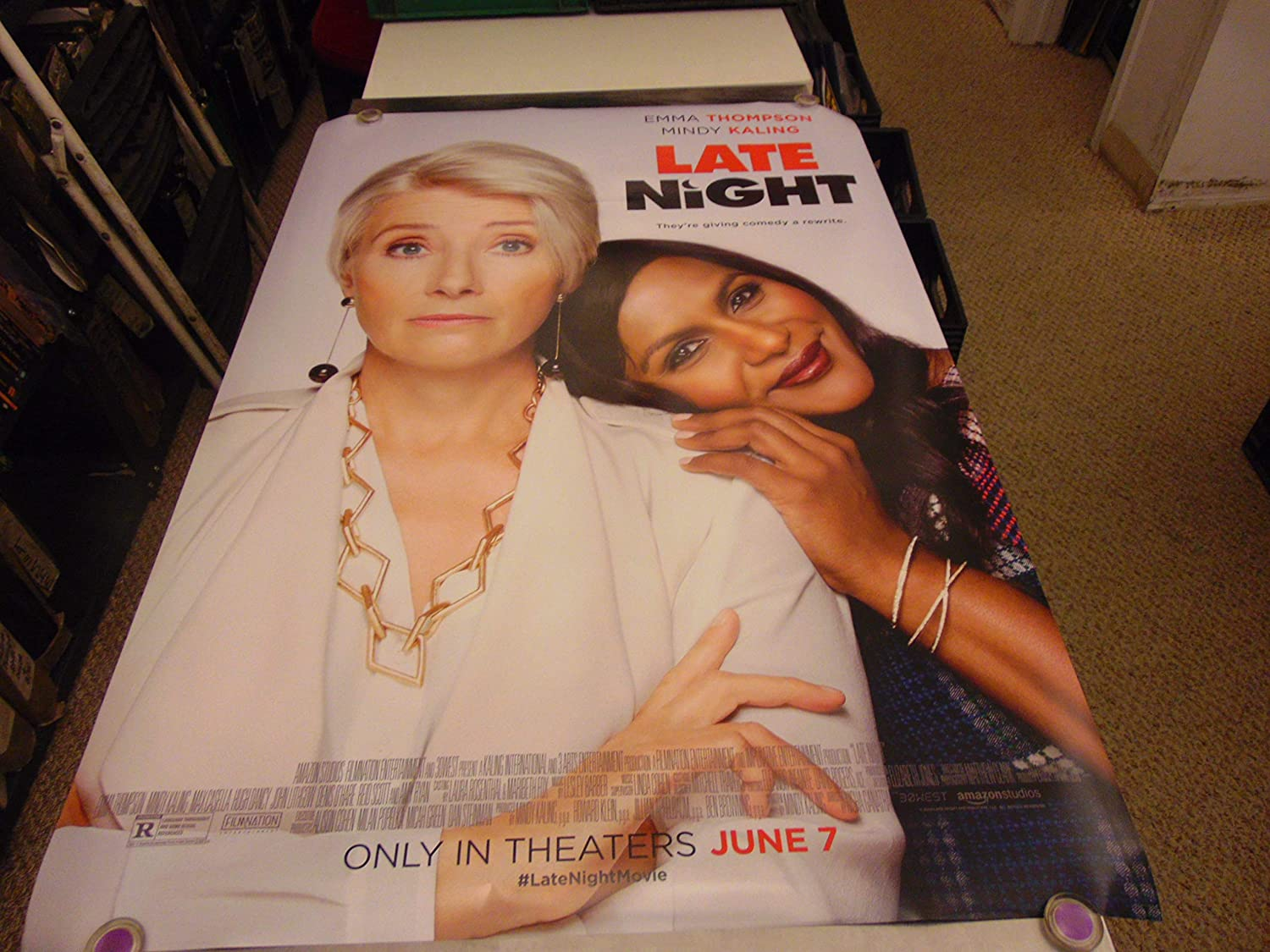 Late Night Orig U S One Sheet Movie Poster Emma Thompson Mindy Kaling At Amazon S Entertainment Collectibles Store