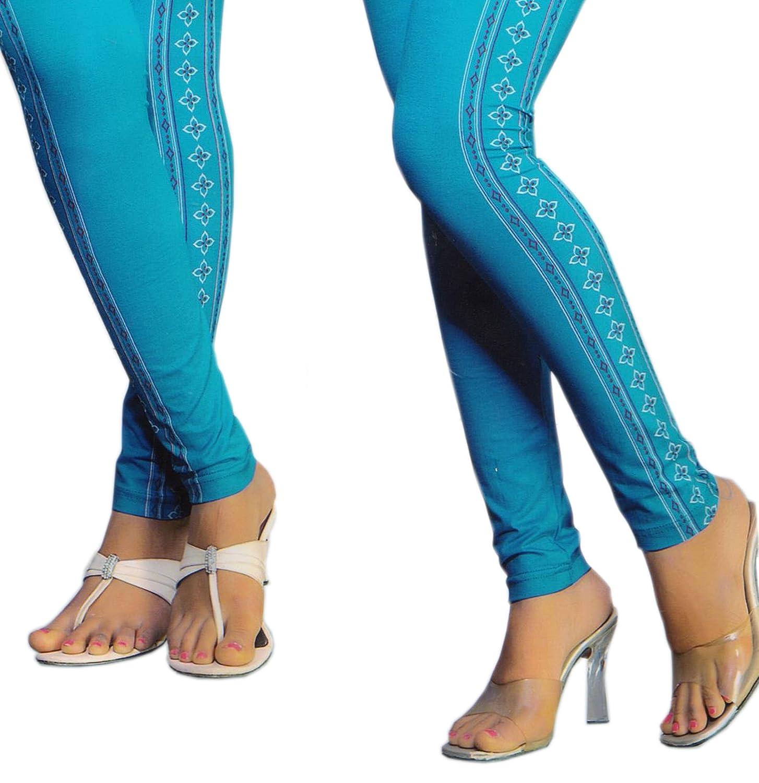 SNS Cotton Lycra Leggings Solid Painted Churidaar