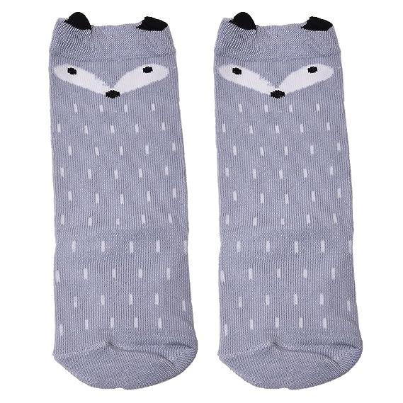calcetines de los ninos - TOOGOO(R)Ninos Ninas Zorro Patron Rodillera calcetines altos