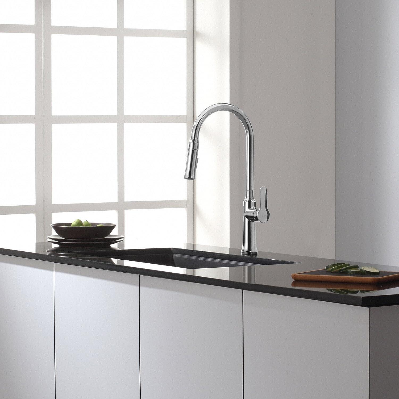 Kraus KPF-1630CH Nola Single Lever Pull-Down Kitchen Faucet Chrome Finish