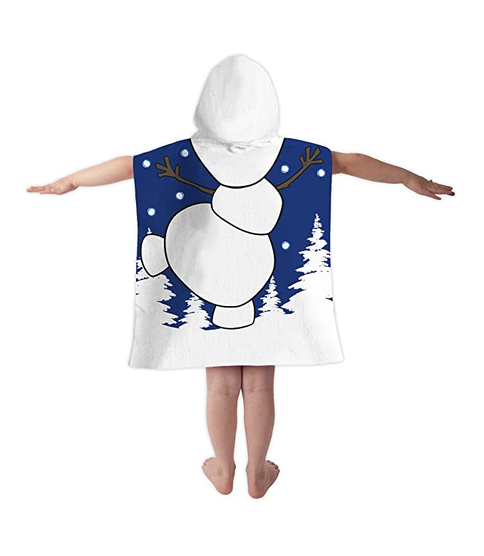Disney Olaf de Frozen Poncho con capucha toalla dress up impreso campana: Amazon.es: Hogar