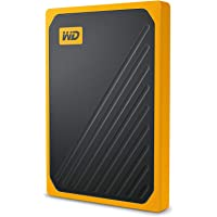 WD My Passport GO Portable SSD, 1TB, USB 3.0, speeds up to 400 MB/s, built-in  cable, Amber colored, 3Y