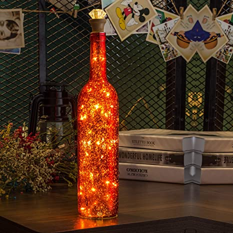 HUAFA luz de botella (Rojo, Recargable)