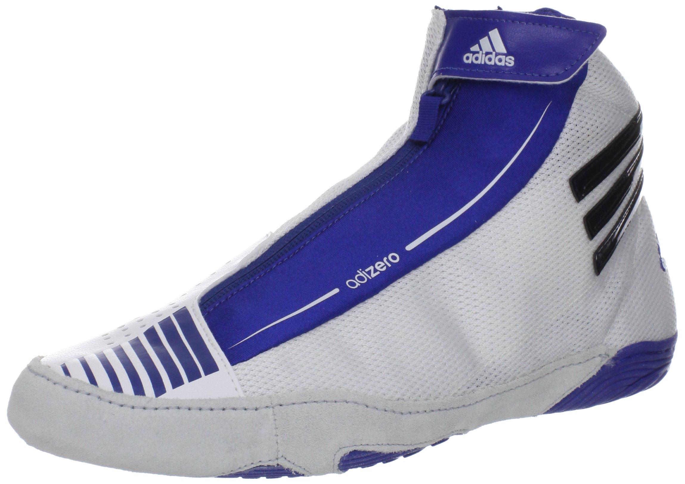 adidas Wrestling Men's Adizero Sydney Wrestling Shoe,White/Black/Royal Blue,11.5 M US by adidas