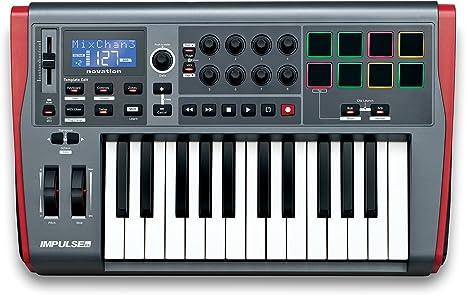 Novation Impulse 25 - Teclado MIDI (USB, 52,5 cm, 33,2 cm, 10 ...