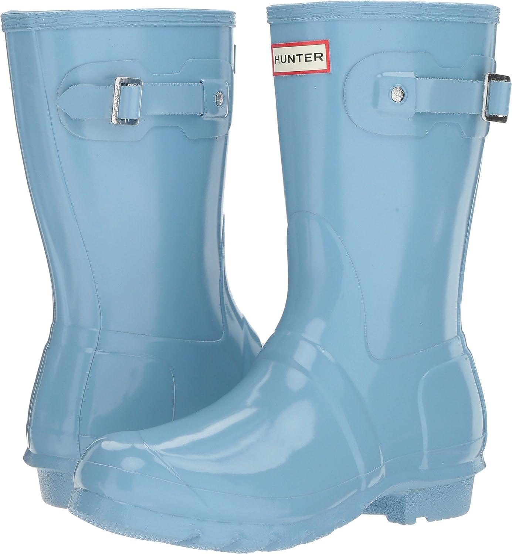 Hunter Women's Original Short Gloss Rain Boots B01MY4PQU5 6 B(M) US|Pale Blue